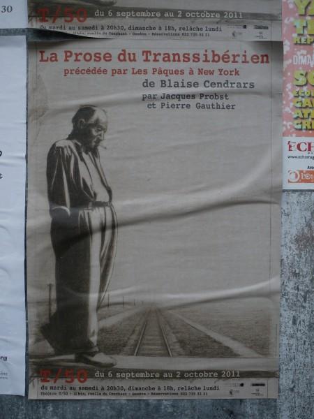 """Affiche du spectacle """"prose de transibérien"""""""
