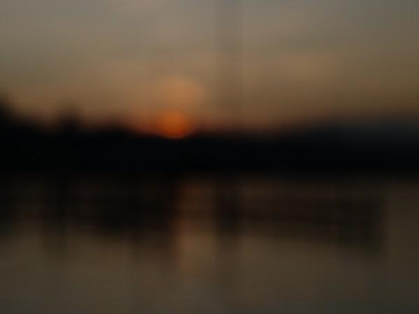coucher de soleil flou