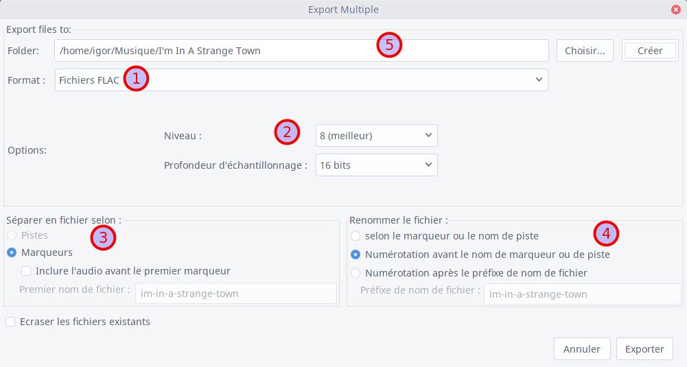 Export multiple