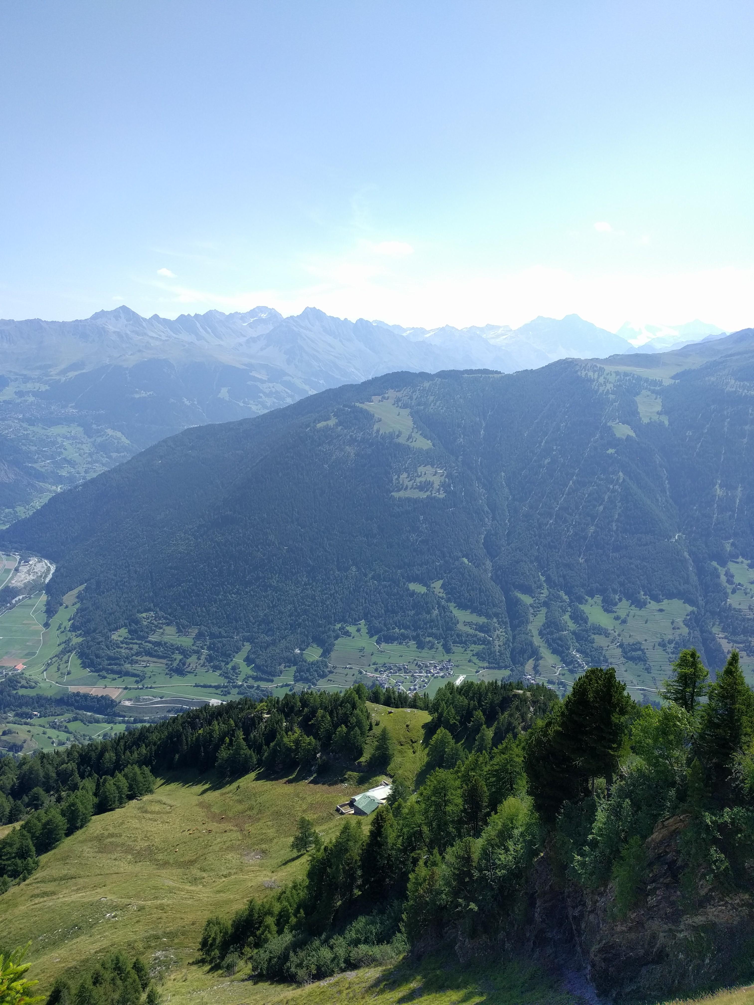 Vue sur l'alpage de Catogne, Chamoille, Le Larzet