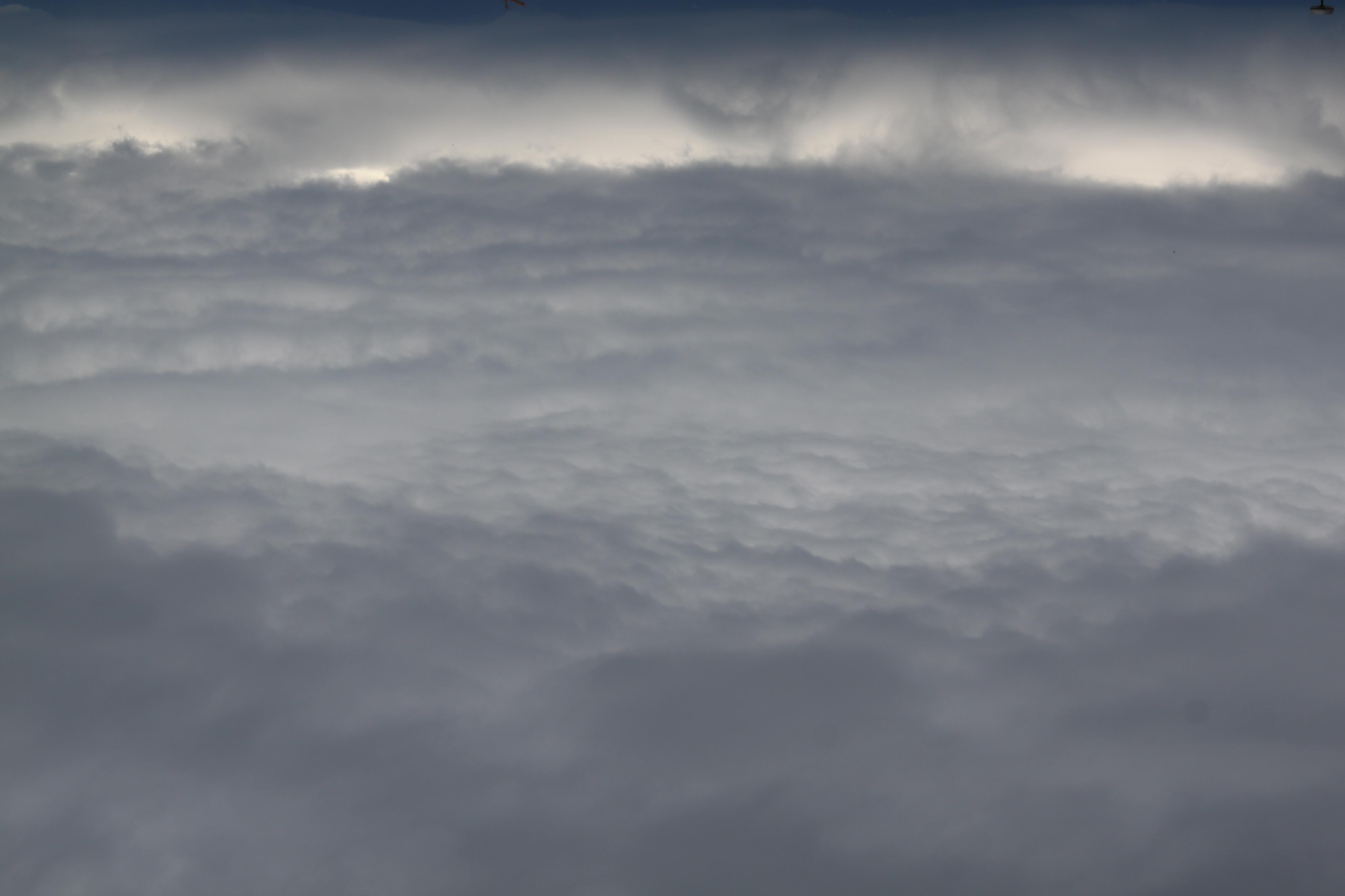 ciel nuageux, impression de ouate, photo retournée